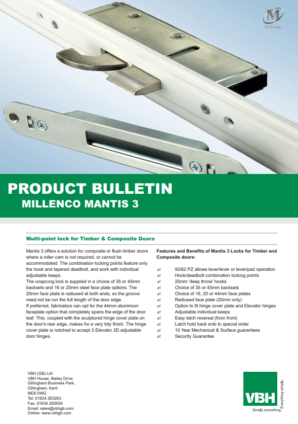 Mantis Multi-Point Lock for Timber & Composite Doors