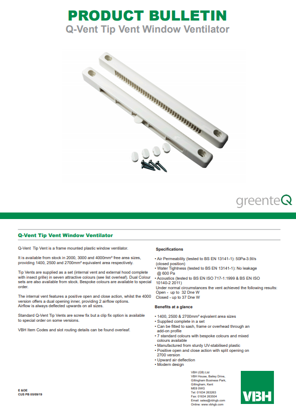 Q-Vent Tip Vent Window Ventilator