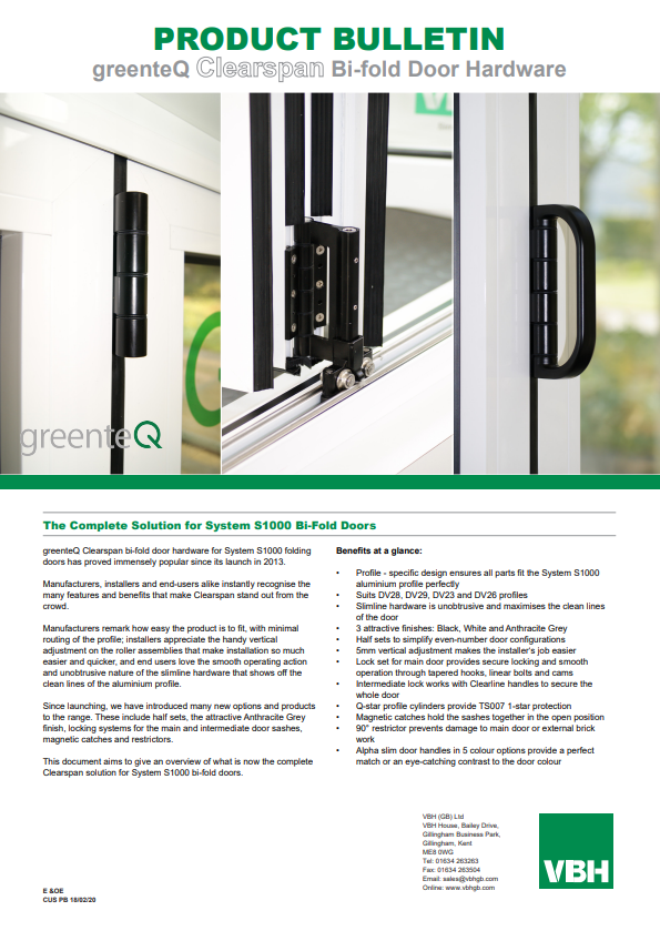 The Complete Solution for Systems S1000 Bi-Fold Doors
