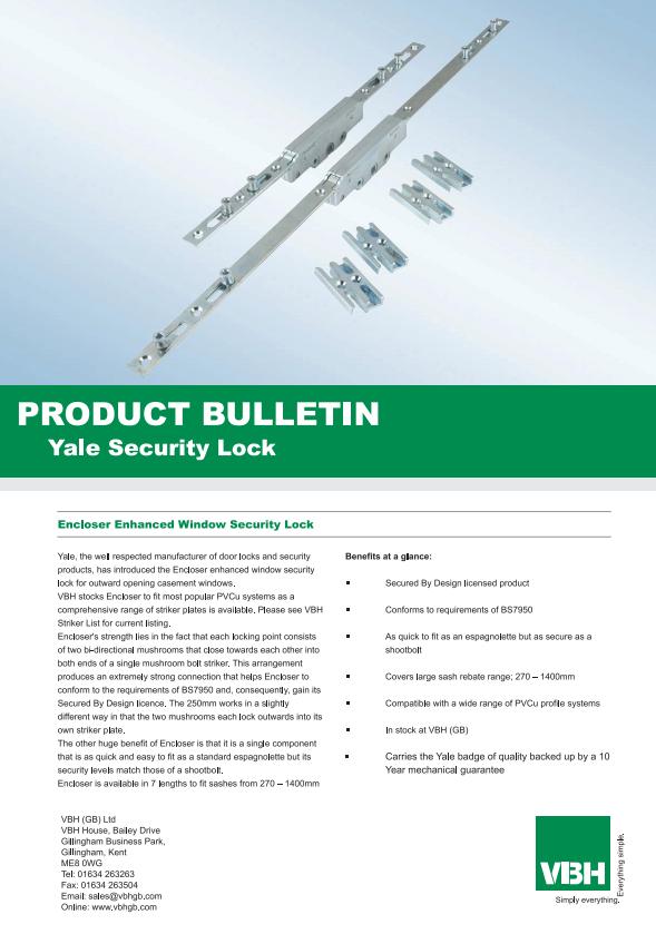 Yale Encloser Enhanced Window Security Lock