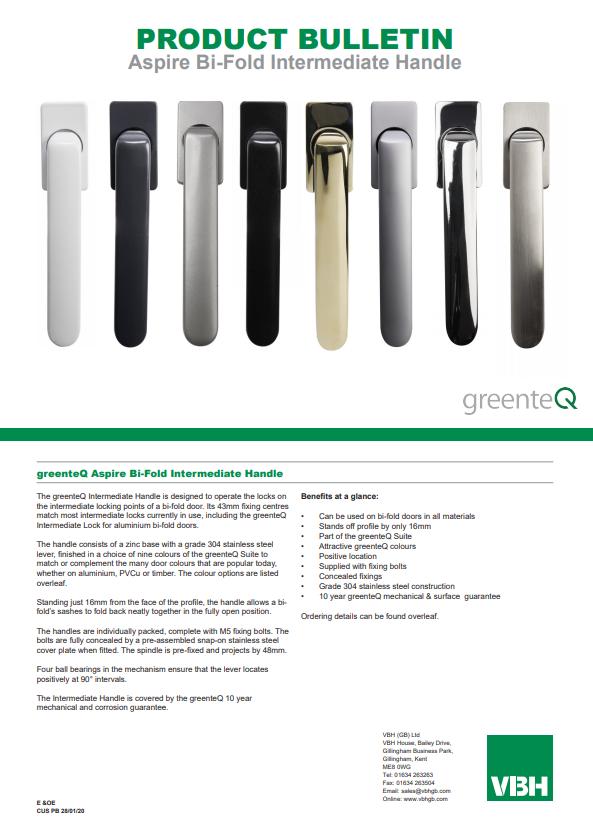 greenteQ Aspire Bi-Fold Intermediate Handle