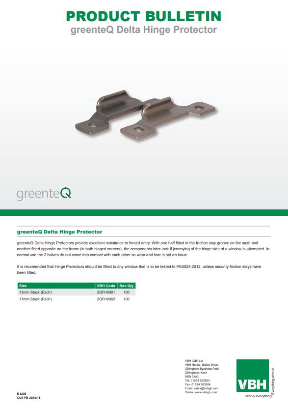 greenteQ Delta Hinge Protector