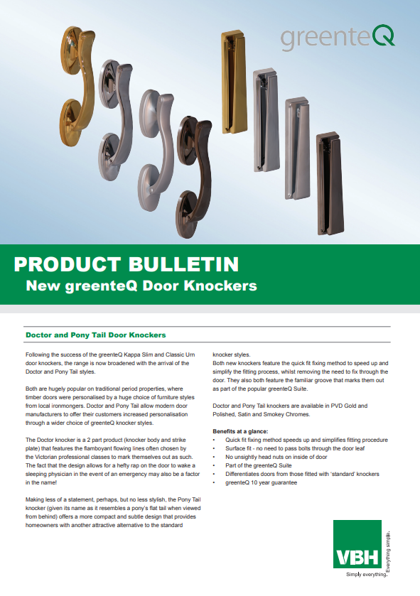 greenteQ Kappa Doctor and Pony Tail Door Knockers