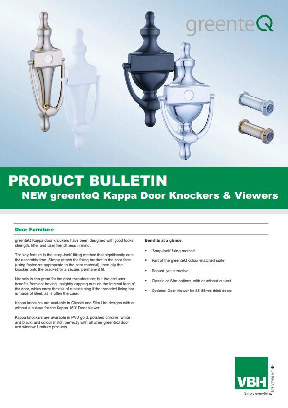 greenteQ Kappa Door Knockers & Viewers
