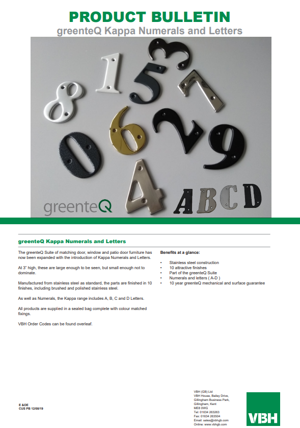 greenteQ Kappa Numerals and Letters