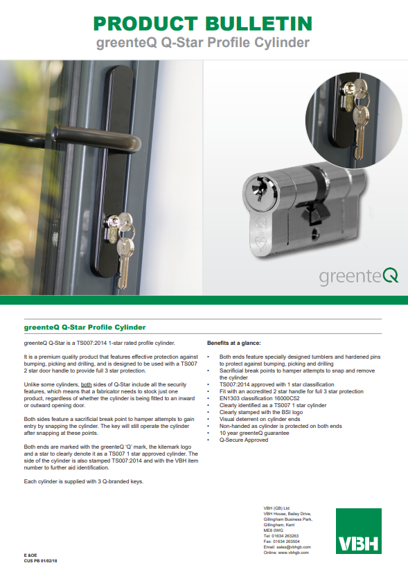 greenteQ Q-Star Profile Cylinder